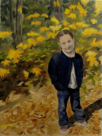 Foster at Big Tree Forest. 48x36, Oil on Canvas, 2013. NFS - Collection of the Artist.