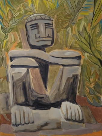 Appropriated Artificial Archaeology. 40x30, Oil on Canvas, 2015